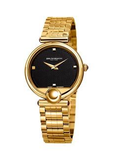 Bruno Magli 34mm Miranda 1022 Bracelet Watch  Black/Gold