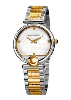 Bruno Magli 34mm Miranda 1022 Bracelet Watch  Two-Tone