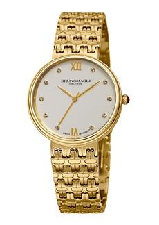 Bruno Magli 36mm Isabella Bracelet Watch  White/Gold
