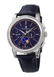 Bruno Magli 43mm Limited Edition Moonphase Watch  Blue