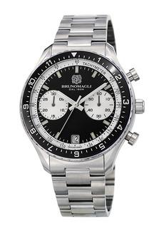 Bruno Magli 43mm Marco 1081 Chronograph Watch  Black/White