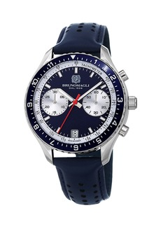 Bruno Magli 43mm Marco 1081 Chronograph Watch  Blue/Steel