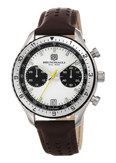 Bruno Magli 43mm Marco 1081 Chronograph Watch  Brown