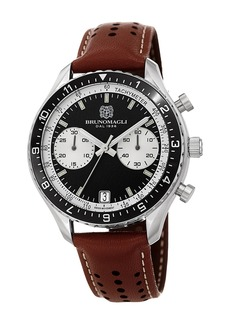 Bruno Magli 43mm Marco 1081 Chronograph Watch  Brown/Black