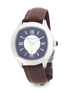 Bruno Magli Classic Leather-Strap Watch
