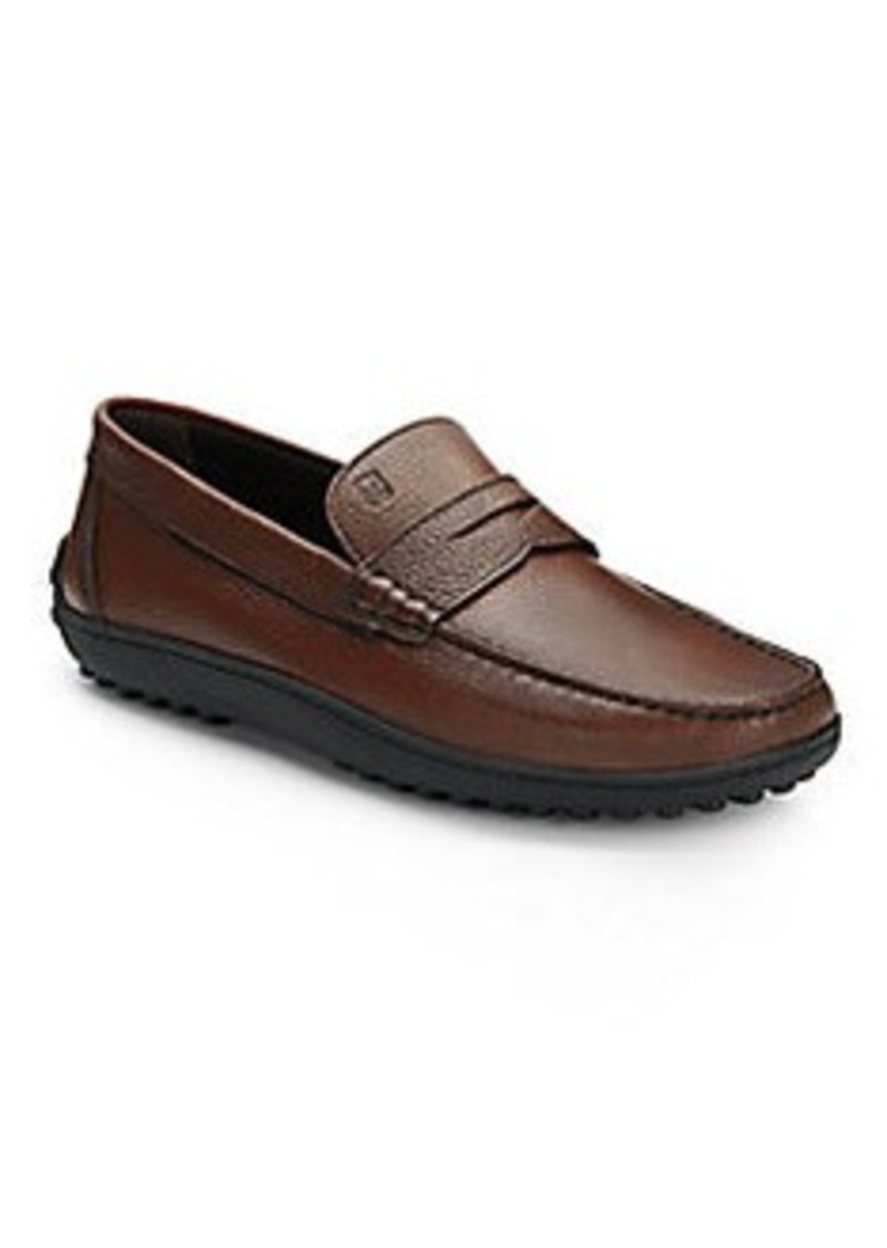 bruno magli bruno magli erosin pebbled leather loafers