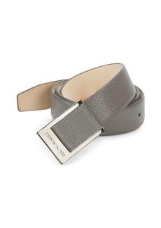 Bruno Magli Leather Snake-Print Belt