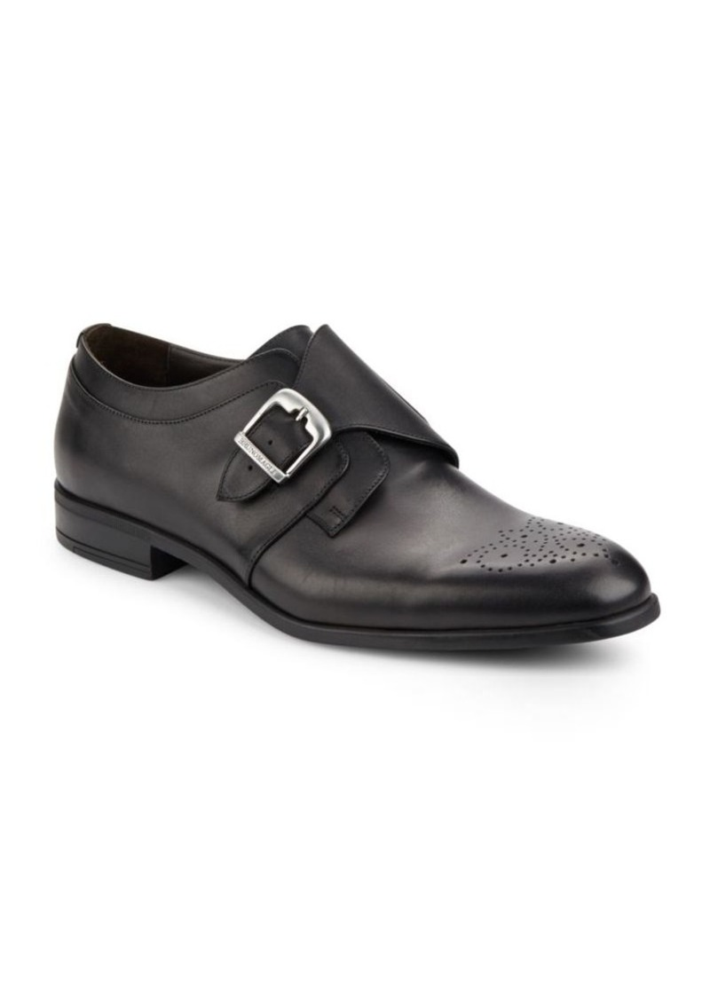 Bruno Magli Mail Monk-Strap Leather Loafers