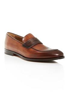 Bruno Magli Men's Fanetta Leather Apron-Toe Penny Loafers
