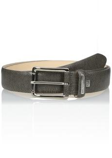 Bruno Magli Men's Stamped Leather Belt Grey