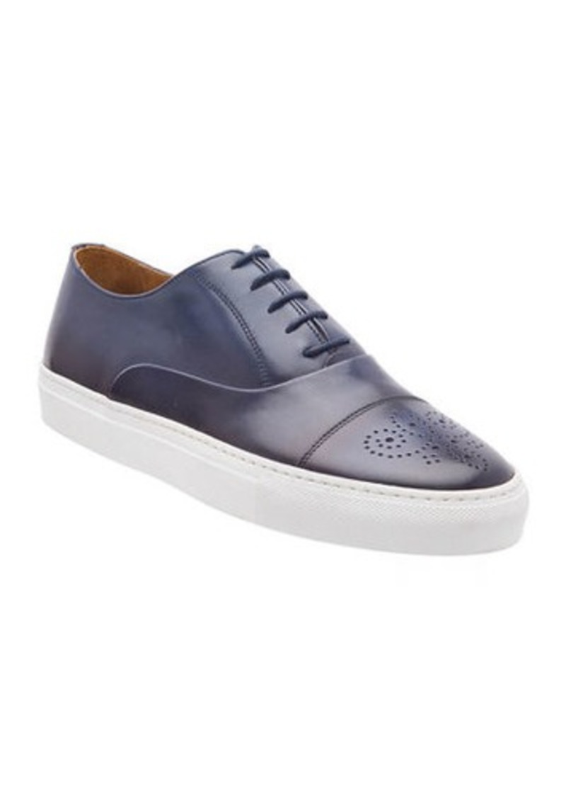Bruno Magli Men's Stefano Perforated Burnished Leather Sneakers