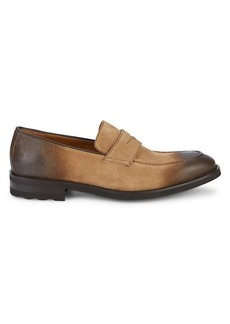 Bruno Magli Bryan Suede Penny Loafers
