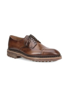Bruno Magli Caslano Cap Toe Lace Up Leather Bluchers