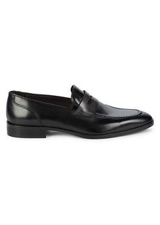Bruno Magli Cassiano Leather Penny Loafers