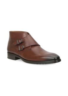 Bruno Magli Alberto Double Monk Strap Leather Boots