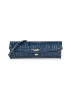 Bruno Magli Envelope Croc-Embossed Leather Convertible Clutch