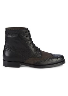 Bruno Magli Fedro Leather & Suede Wingtip Boots