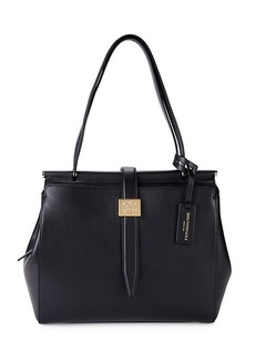 Bruno Magli Large Double Dowel Leather Tote