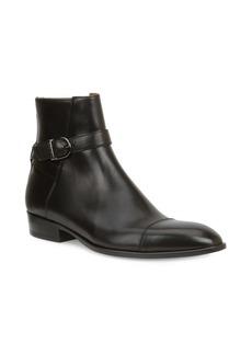 Bruno Magli Radford Leather Cap Toe Dress Boots