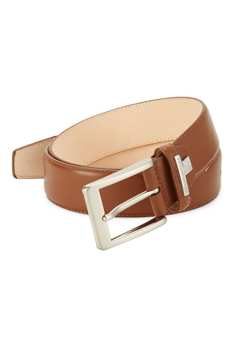 Bruno Magli Logo Leather Belt