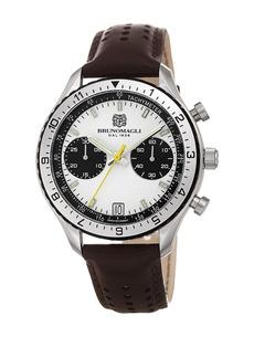 Bruno Magli Men's Marco 1081 Swiss Leather Strap Watch, 43mm