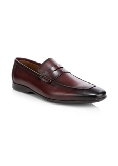 Bruno Magli Margot Burnished Leather Penny Loafers