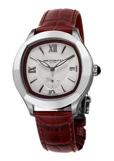 Bruno Magli Men's 42mm Amadeo Watch w/ Crocodile Strap