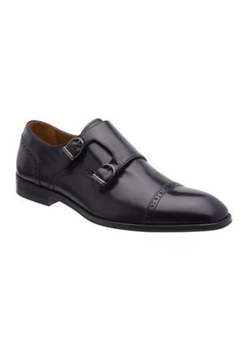 Bruno Magli Men's Anzio Brogue Leather Double-Monk Loafers