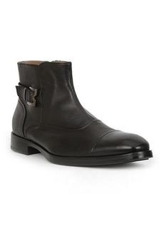 Bruno Magli Men's Arcadia Leather Buckle Ankle Boots