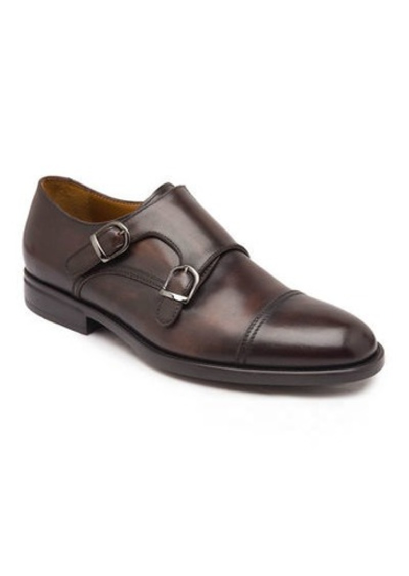 Bruno Magli Men's Barone Burnished Leather Double-Monk Loafers