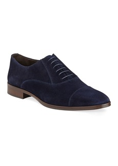 Bruno Magli Men's Caymen Suede Cap-Toe Oxfords