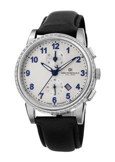 Bruno Magli Men's Dante 42mm Chronograph-Date Watch  Black/Silver
