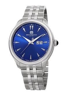 Bruno Magli Men's Luca 42mm Bracelet Watch  Blue/Silver