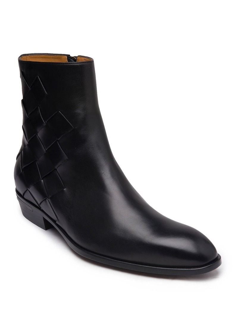 Bruno Magli Men's Riccardo Woven Leather Boots