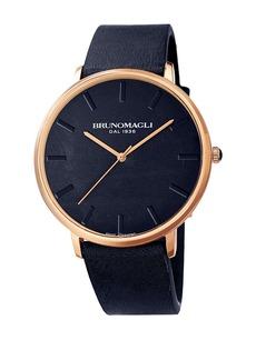 Bruno Magli Men's Roma 1163 Leather Strap Watch, 42mm x 45mm