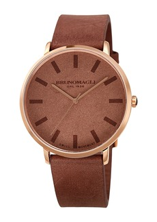 Bruno Magli Men's Roma 1163 Leather Watch, 42mm