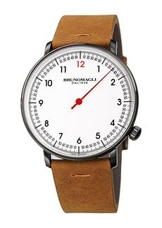 Bruno Magli Men's Roma Fiero Leather Strap Watch, 43mm