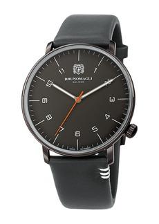 Bruno Magli Men's Roma Moderna Leather Strap Watch, 43mm