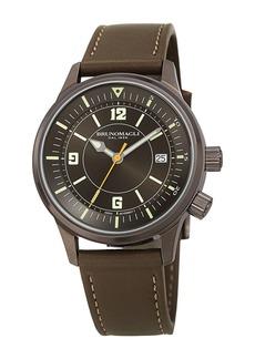 Bruno Magli Men's Vittorio Leather Strap Watch, 41mm