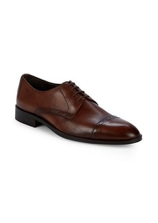 Bruno Magli Nevil Leather Cap Toe Oxfords