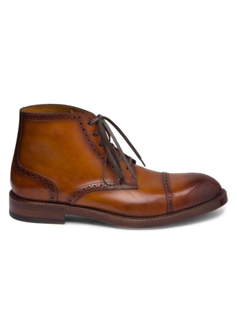 Bruno Magli Octavio Leather Brogue Boots