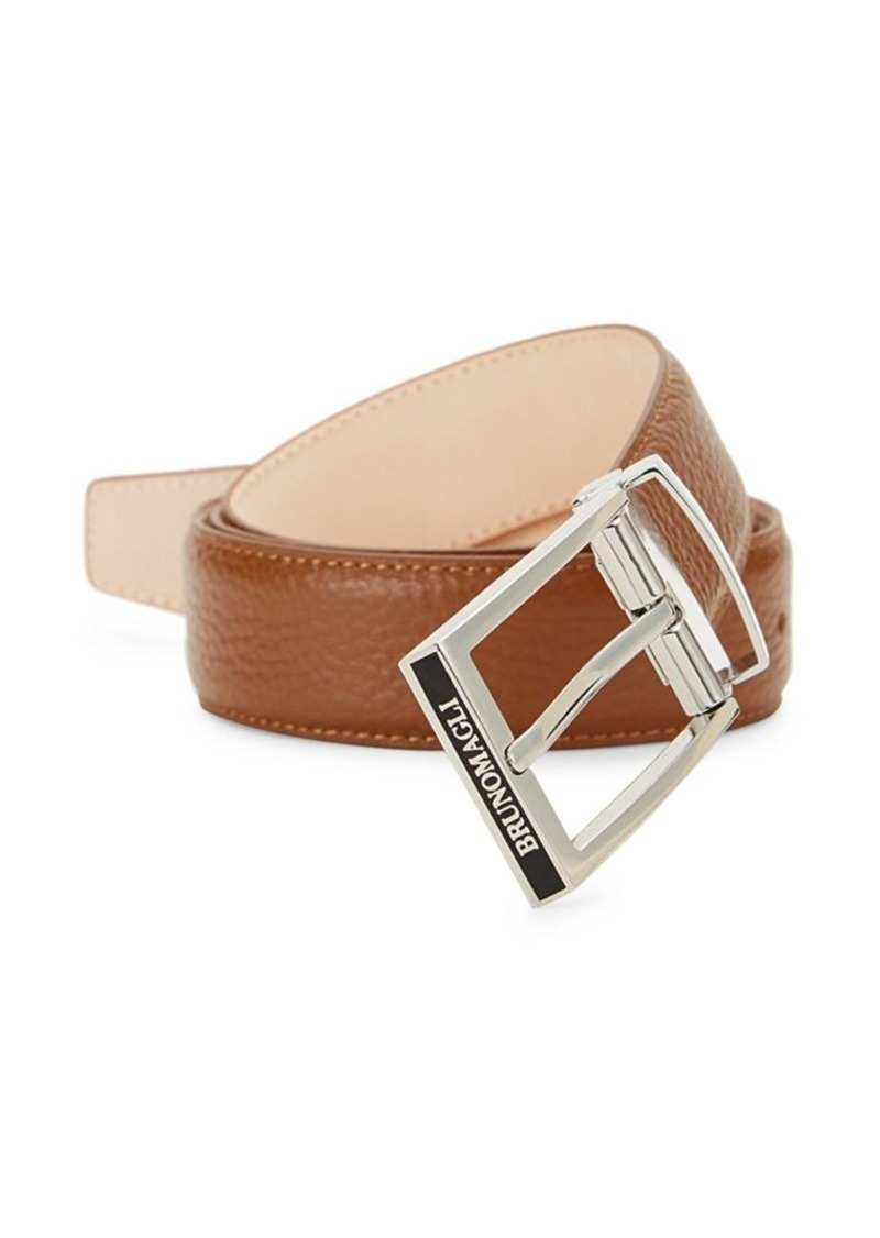 Bruno Magli Pebbled Leather Belt