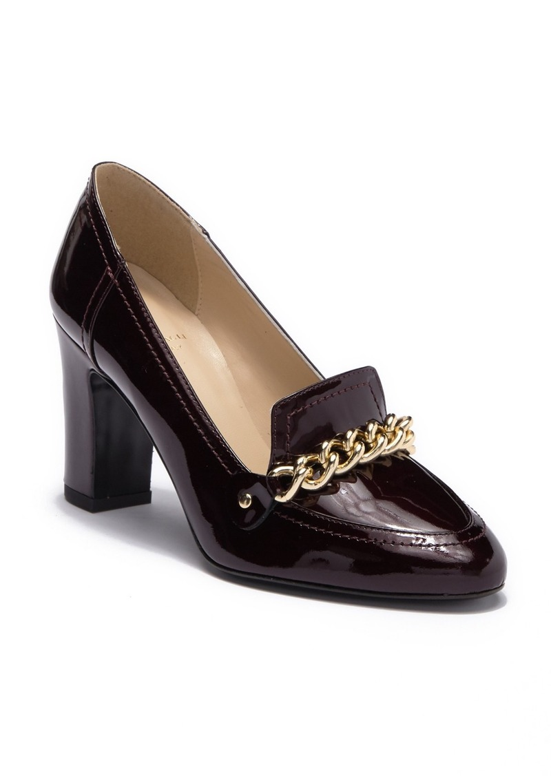 Petra Chain Block Heel Pump