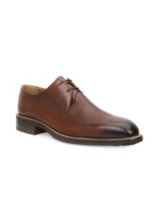Bruno Magli Norris Plain Toe Leather Lace-Up Shoes