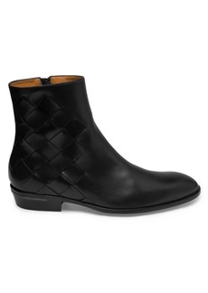 Bruno Magli Riccardo Woven Leather Ankle Boots