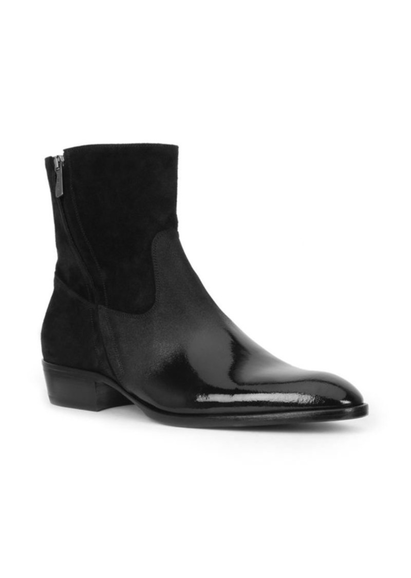 Bruno Magli Risoli Suede and Patent Leather Boots