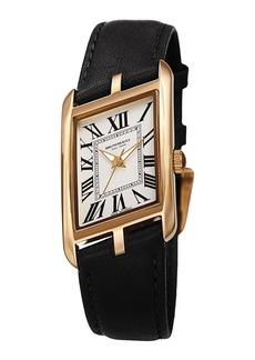 Bruno Magli Sofia Asymmetric Watch w/ Leather Strap  Black/Gold