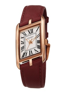 Bruno Magli Sofia Asymmetric Watch w/ Leather Strap  Burgundy/Rose