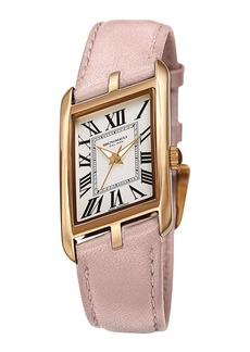 Bruno Magli Sofia Asymmetric Watch w/ Leather Strap  Pale Pink/Gold