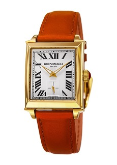 Bruno Magli Women's Swiss Made Ronda Quartz 1069 Valentina Leather Strap Watch, 27mm